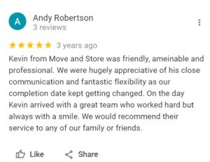 Customer Google Review